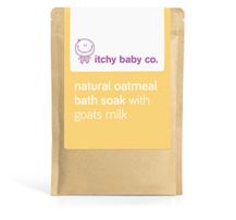 oatmeal bath soak with goats milk